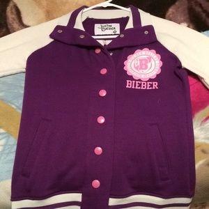 Justin Bieber letterman jacket
